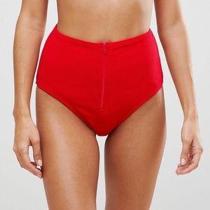 Playful Promises Zipper High Waist Bikini Bottom